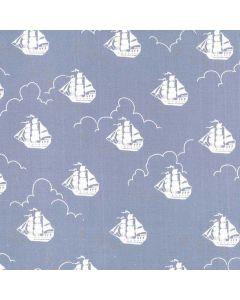 Michael Miller Fabrics Peter Pan Jolly Roger - Fog