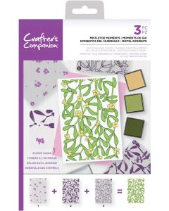 Crafter's Companion Background Layering Stamps - Mistletoe Moments