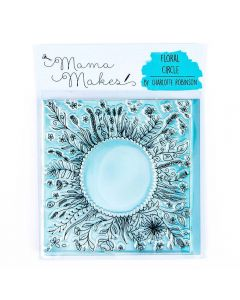 Mama Makes 10cm x 10cm Clear Photopolymer Stamp - Floral Circle