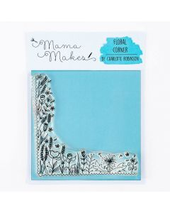 Mama Makes 10cm x 10cm Clear Photopolymer Stamp - Floral Corner