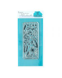 Mama Makes 16cm x 7cm Clear Photopolymer Stamp - Floral Panel