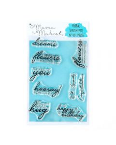 Mama Makes A6 Clear Photopolymer Stamp - Floral Sentiments