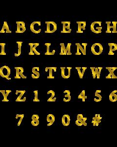 Gemini Monogram Foil Stamp Die - Classic Alphabet