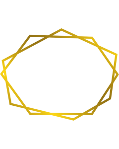 Gemini Monogram Foil Stamp Die - Geometric Frame