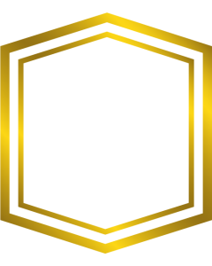 Gemini Monogram Foil Stamp Die - Hex Frame