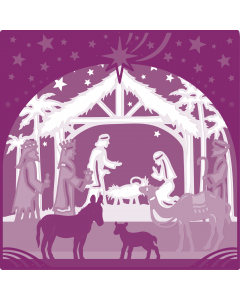 Gemini Create-a-Card Build a Scene Metal Die - Away in a Manger