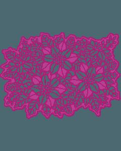 Gemini Create-a-Card Cut on Edge Christmas Metal Die - Festive Flowers