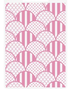 Sara Signature Sew Homemade 5x7 Embossing Folder - Patchwork Clamshells