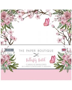 The Paper Boutique Butterfly Ballet - 8x8 Card and Envelope Pack