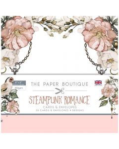 Creative Expressions The Paper Boutique Steampunk Romance - 8x8 Card & Envelope Pack