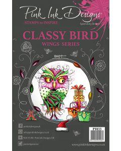 Pink Ink Designs Clear Stamp - Classy Bird