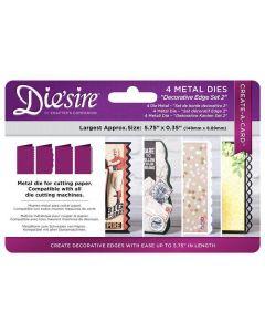 Die'sire Create-a-Card Kinetic Metal Die - Decorative Edges Set 2 (Original)