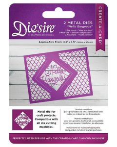 Die'sire Kinetic Inlay Metal Die - Hello Gorgeous