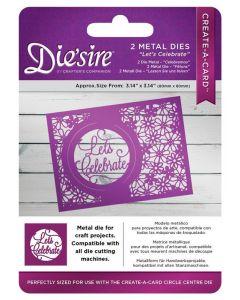 Die'sire Create-a-Card Kinetic Inlay Metal Die - Let's Celebrate (Original)