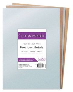 Crafter's Companion Centura Pearl Metallic A4 36 Sheet Pack - Precious Metals