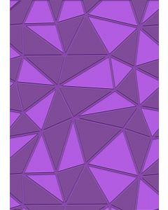 Gemini A6 3D Embossing Folder - Geometric Decor