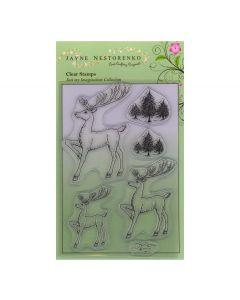 Claritystamp Jayne Nestorenko Stamp Set -  Reindeer Trio