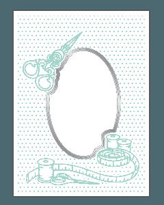 Sara Signature Sew Lovely Cut and Emboss Folder - Needlecraft