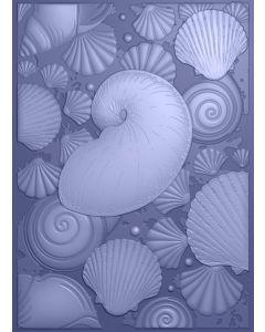Sara Signature Nautical 3D Embossing Folder - Seashell Medley