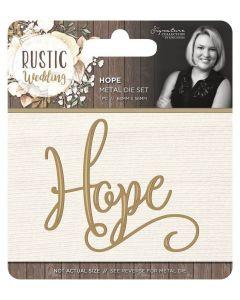 Sara Signature Rustic Wedding Metal Die - Hope