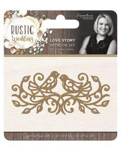 Sara Signature Rustic Wedding Metal Die - Love Story