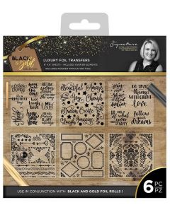 Sara Signature Black and Gold Collection - Foil Transfers (6pk)