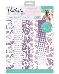 Sara Signature Flutterby Collection A4 Luxury Foiled Pad