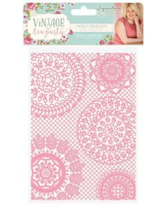 "Sara Signature Vintage Tea Party Collection 5""x7"" Embossing Folder - Doily Delights"