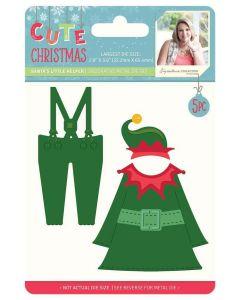 Sara Signature Cute Christmas Collection Metal Die - Santa's Little Helper