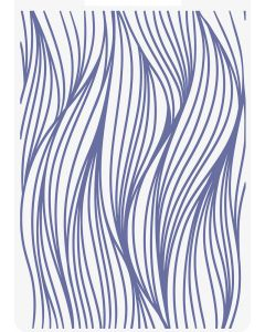 Sara Signature Nautical 2D Embossing Folder - Ocean Waves