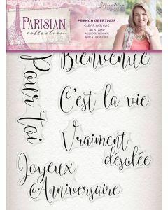 Sara Signature Parisian Acrylic Stamp - French Greetings