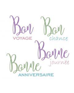 Sara Signature Parisian Stamp and Die - French Sayings
