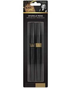 Sara Signature Black and Gold Collection - Sparkle Pens (2pk)