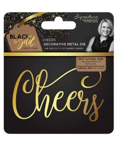 Sara Signature Black and Gold Collection Metal Die - Cheers