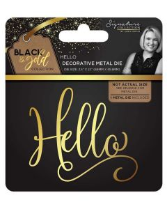 Sara Signature Black and Gold Collection Metal Die - Hello