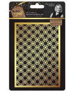 Sara Signature Black and Gold Collection Metal Die - Circle Trellis