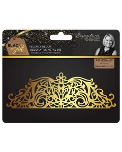 Sara Signature Black and Gold Collection Metal Die - Regency Décor