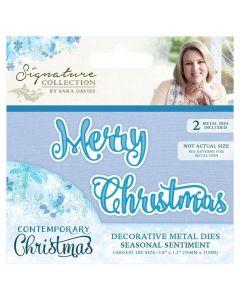 Sara Signature Contemporary Christmas Collection - Seasonal Sentiment Die