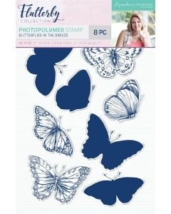 Sara Signature Flutterby Collection Photopolymer Stamp - Butterflies in the Breeze