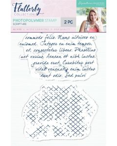 Sara Signature Flutterby Collection Photopolymer Stamp - Scripture