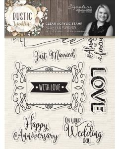 Sara Signature Rustic Wedding Clear Acrylic Stamp - Always & Forever