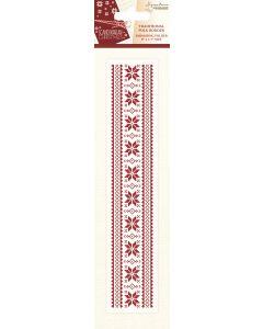 Sara Signature Scandinavian Christmas Collection Embossing Folder - Traditional Folk Border