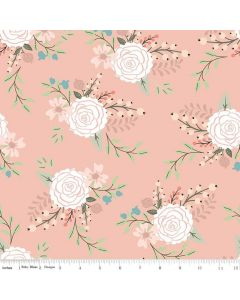 Riley Blake Bliss Fabric - Main Blush With Rose Gold Sparkle