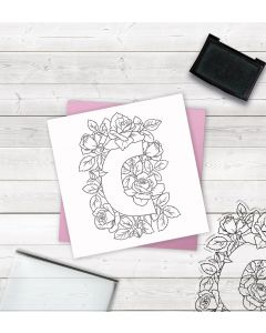 Crafter's Companion Clear Acrylic Stamp - Letter C