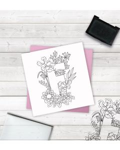 Crafter's Companion Clear Acrylic Stamp - Letter F