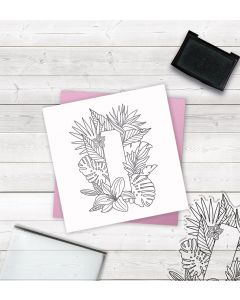 Crafter's Companion Clear Acrylic Stamp - Letter I