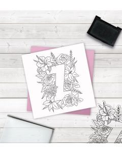 Crafter's Companion Clear Acrylic Stamp - Letter Z