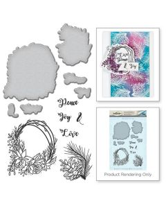 Spellbinders Stamp and Die Template Set - Wreath