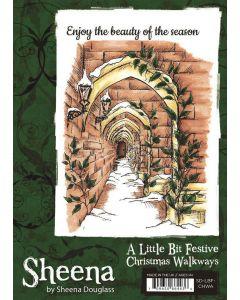 Sheena Douglass A Little Bit Festive A6 Rubber Stamp - Christmas Walkways