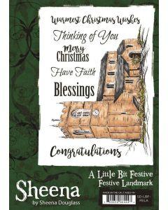 Sheena Douglass A Little Bit Festive A6 Rubber Stamp - Festive Landmark